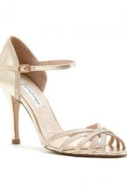 Gold νυφικά παπούτσια