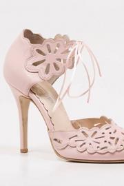 Ροζ νυφικά παπούτσια δερμάτινα