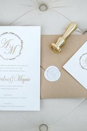 Προσκλητήρια γάμου με μοντέρνα γραμματοσειρα