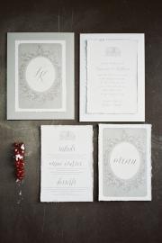 Γκρί προσκλητήριο γάμου