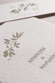 Letterpress προσκλητήρια