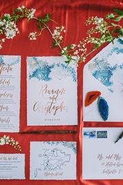 Μπλέ προσκλητήρια γάμου