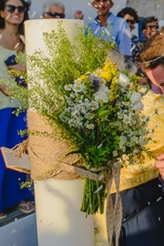 Διακόσμηση λαμπάδας γάμου