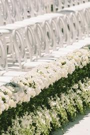 weddinf decoration with ghostchairs