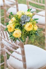 Στολισμός με κίτρινα λουλούδια