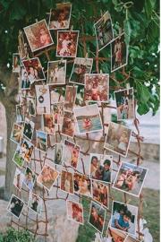 Στολισμός με φωτογραφίες του ζευγαριού