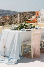 Pink and rose gold διακόσμηση τραπεζιού