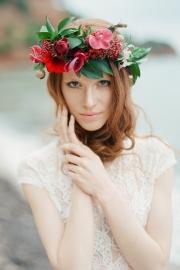 Στεφανι με φυσικα λουλουδια
