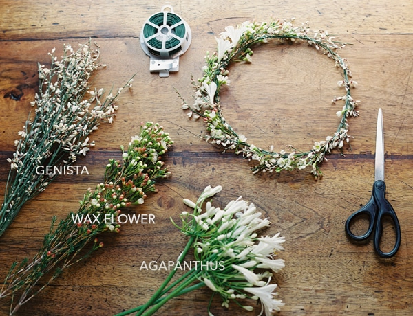 στεφανι για νυφη απο αληθινα λουλουδια