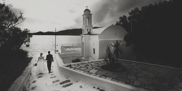 vintage wedding greek island