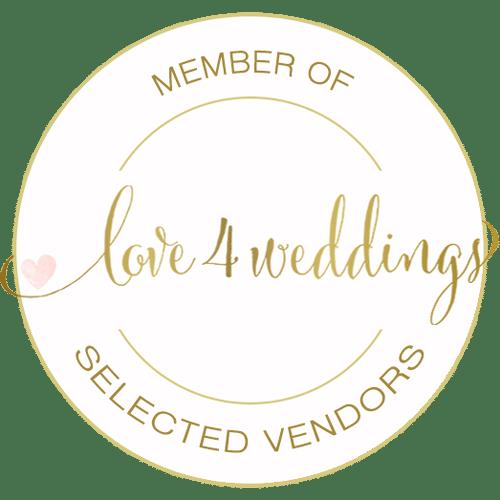 Member of Love4Weddings Selected Vendors