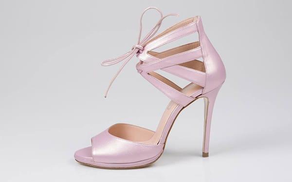 ροζ-νυφικα-πεδιλα. Νυφικα Παπουτσια   Sideris Shoes e80768ac13d