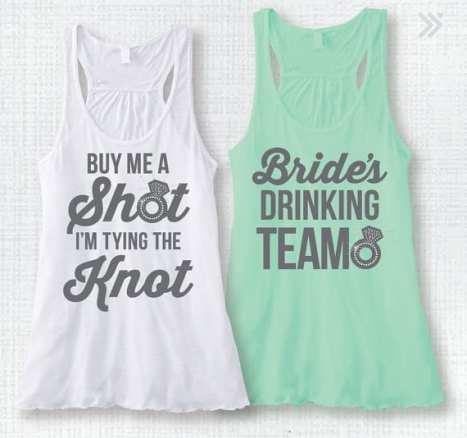 Μπλουζάκι για το bachelor πάρτυ της νύφης σε λευκό και mint χρώμα