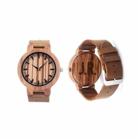 Ξύλινο, πρωτότυπο ρολόι για έναν μοντέρνο γαμπρό