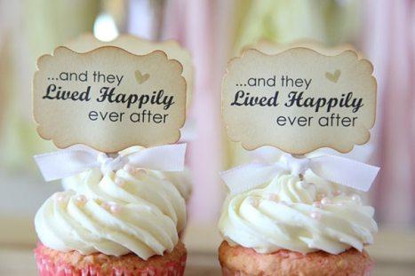 Toppers-καρτελάκια ειδικά για τα cupcake του γάμου σας
