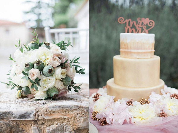 gold-wedding-cake