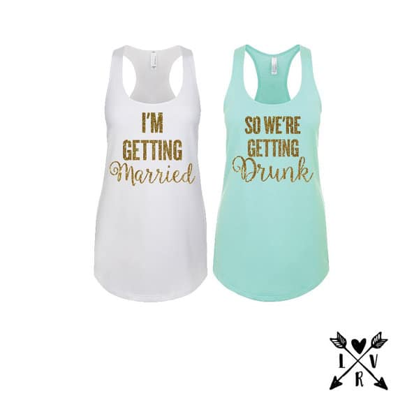 395882a5f204 bachelorette party shirts Drunk in love