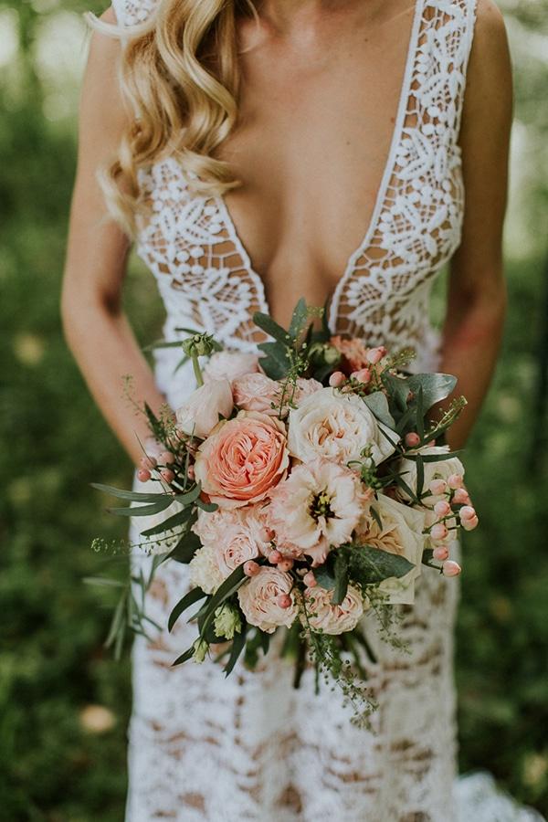 Νυφικη ανθοδεσμη για μποεμ γαμο
