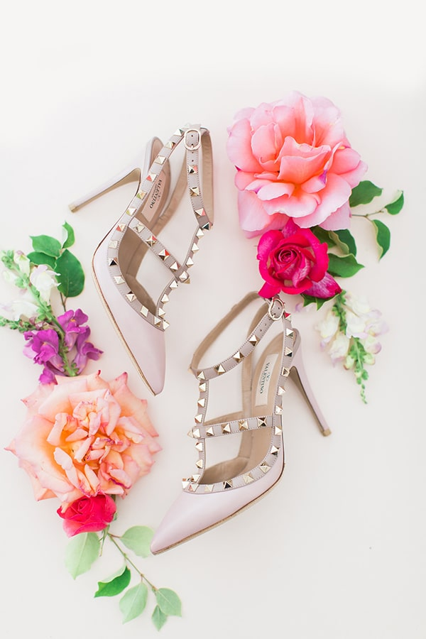 nude Valentino νυφικά παπούτσια