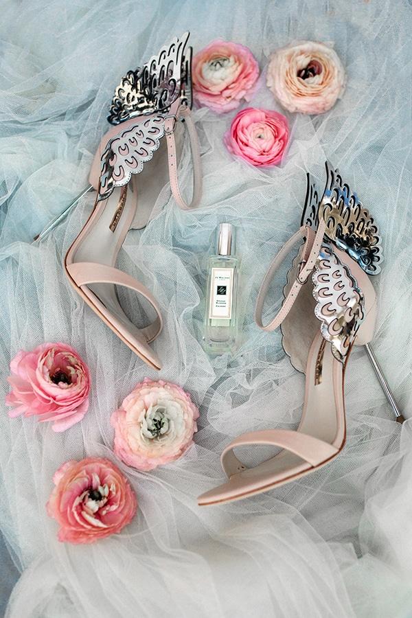 Νυφικά παπούτσια σε παστελ χρώμα Sophia Webster