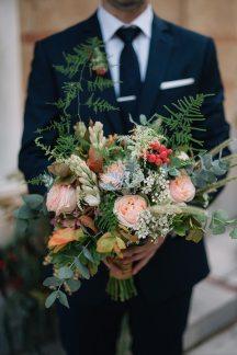 Νυφικη ανθοδεσμη για φθινοπωρινο γαμο