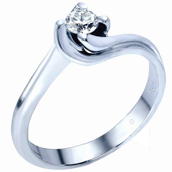 Μονόπετρο δαχτυλίδι με διαμάντι