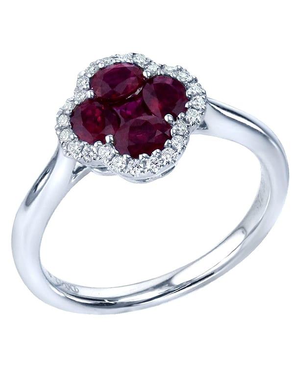 Λευκόχρυσο δαχτυλίδι με διαμάντι