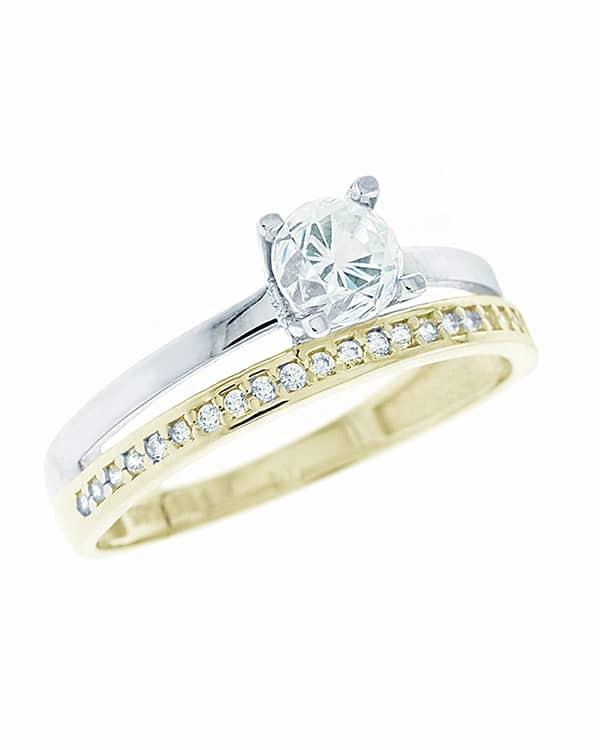 Μονόπετρο δαχτυλίδι με ζιρκόν