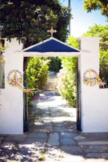 Διακοσμηση εισοδου εκκλησιας