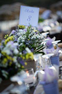 Ανθοστολισμος γαμου με λουλουδια του αγρου