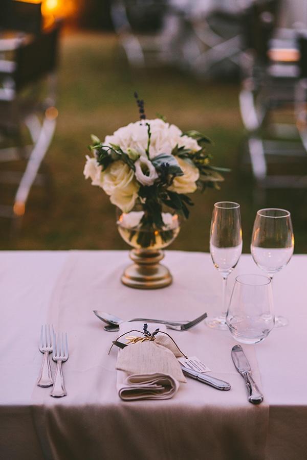 Minimal chic wedding decoration
