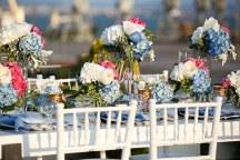 Διακοσμηση γαμου με ροζ και μπλε