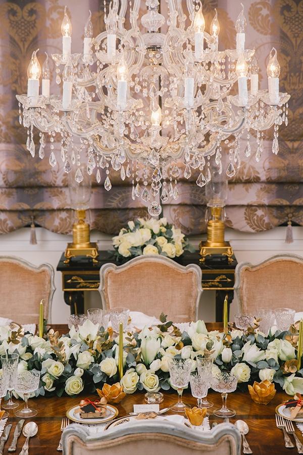 Elegant διακοσμηση για Χριστουγεννιατικο γαμο