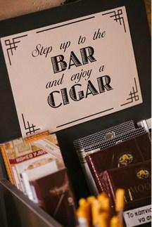 Cigar bar στο γαμηλιο παρτι