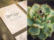 Copper foil προσκλητηρια γαμου