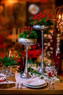 Διακοσμηση τραπεζιου γαμου για χριστουγεννα