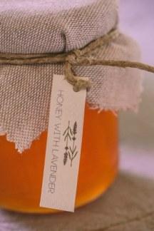 Μπομπονιερα γαμου με μελι και λεβαντα