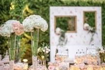 Διακοσμηση γαμου με ορτανσιες