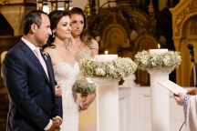 Λαμπαδα γαμου με γυψοφιλη
