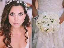 Μπουκετο νυφης σε λευκο χρωμα