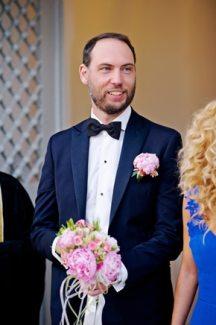 Ανθοδεσμη για γαμο με ροζ παιωνιες