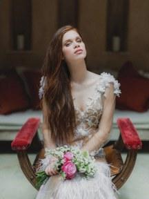 Ρομαντικη ανθοδεσμη γαμου