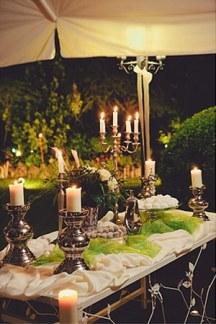 Ρομαντικος στολισμος δεξιωσης γαμου