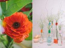 Στολισμος δεξιωσης γαμου με λουλουδια
