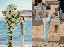Στολισμος γαμου στην παραλια