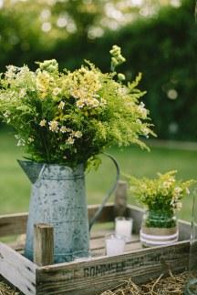 Στολισμος γαμου με κιτρινα λουλουδια