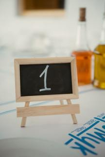Table numbers – mini chalk boards