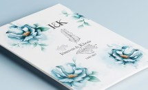 Floral Winter invitations