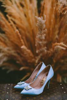 Once Upon a Shoe γαλαζιες νυφικες γοβες
