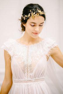 Χρυσο στεφανακι για τα μαλλια νυφης